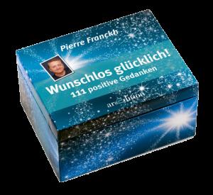 Foto der Kartenbox 'Wunschlos glücklich - 111 positive Gedanken' von Pierre Franckh